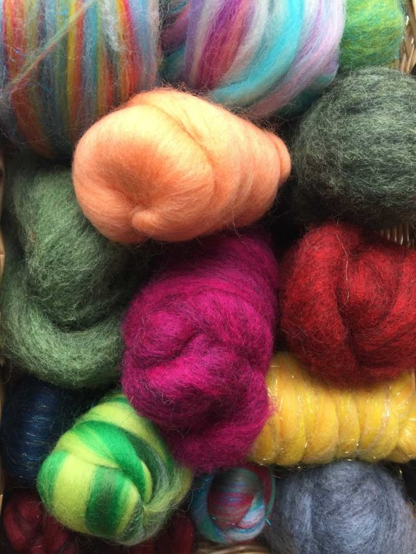 wool colours in basket