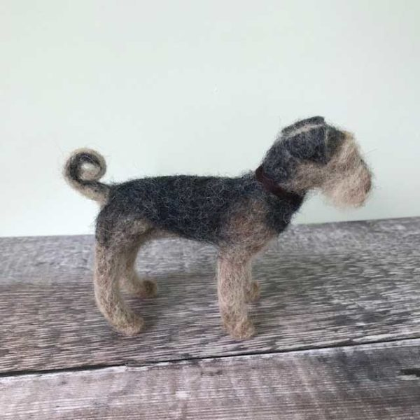 Needle Felted Airdale Terrier