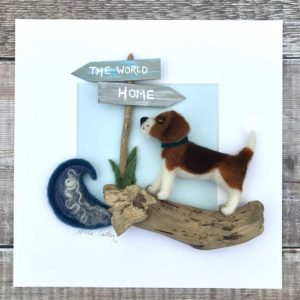 Personalised Pet Portrait Needle Felt
