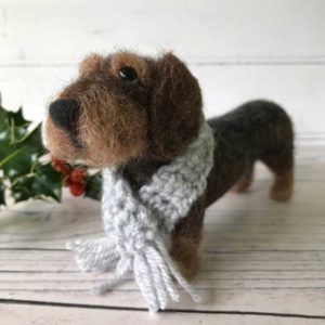 Doogie the Needle felted Dachshund