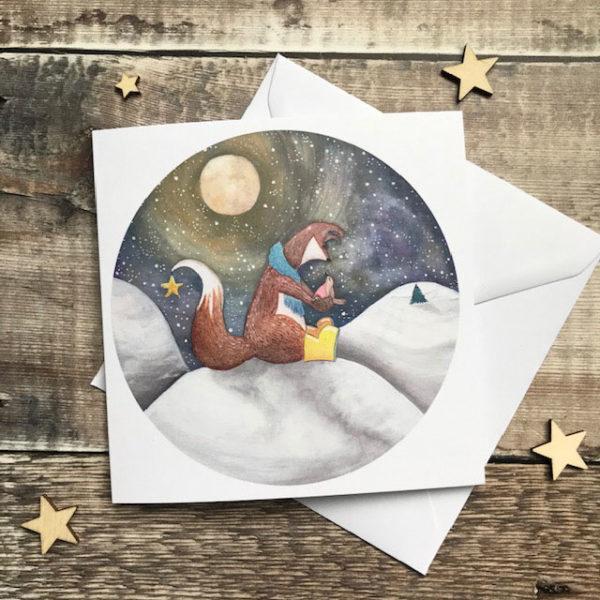 Felix Fox Sitting in Snow