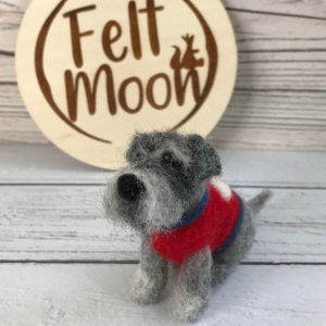 Needle Felted Mini Schnauzer