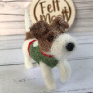 Needle Felted Parson Russel Terrier